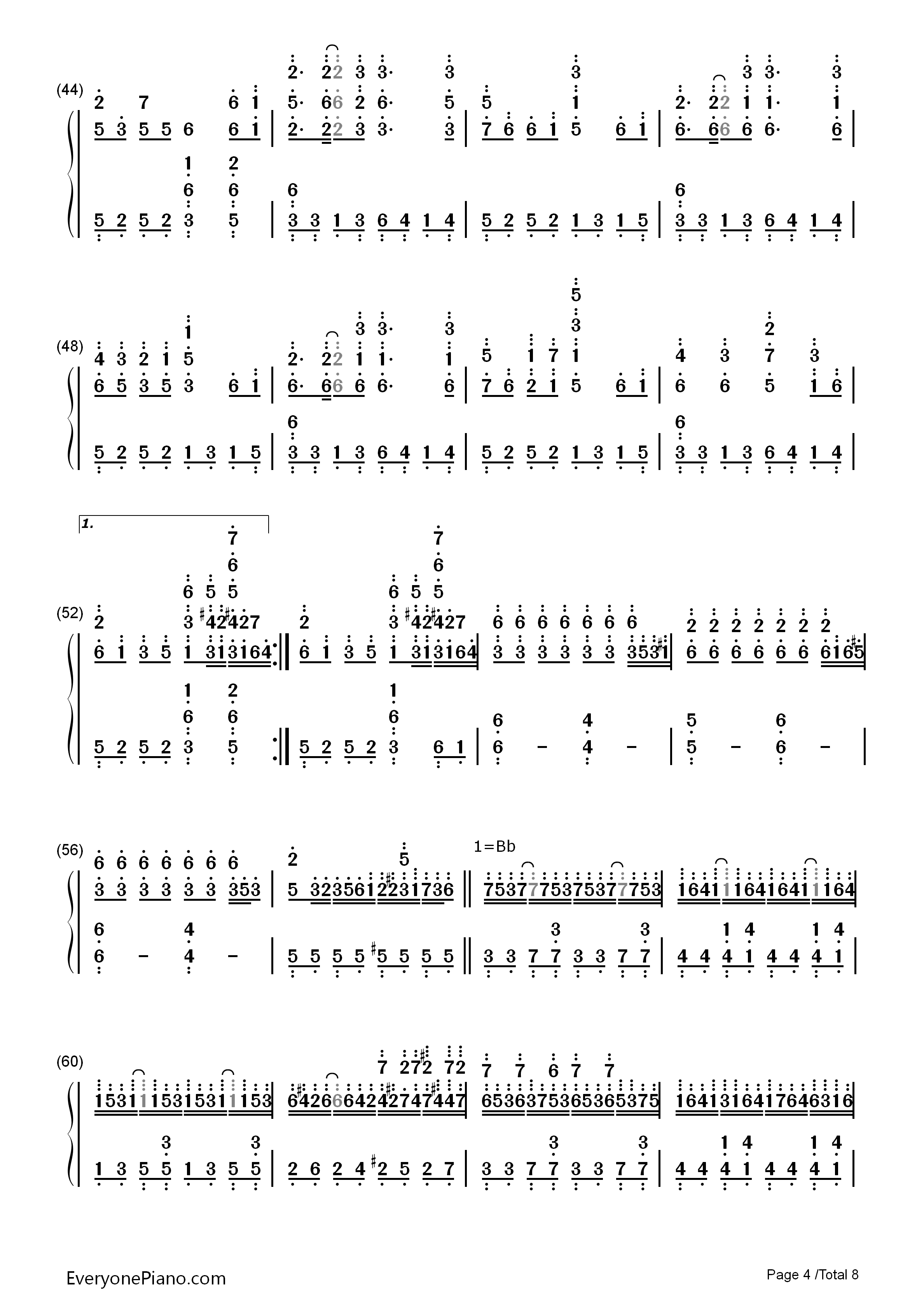 千本桜両手略譜プレビュー4 千本桜両手略譜プレビュー( 総数8枚 ) 無料の楽譜「五線譜、両手略