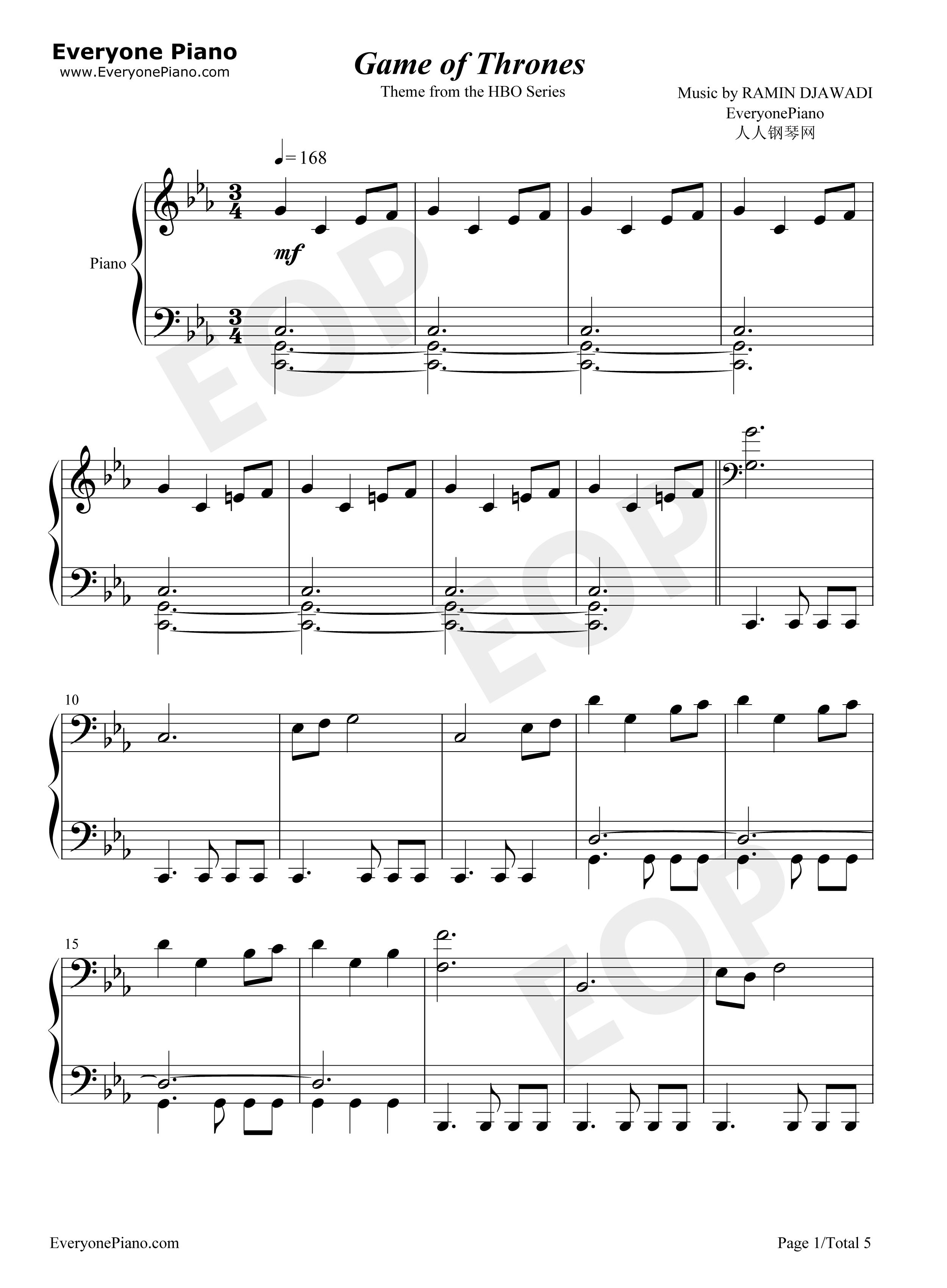 Game of thrones piano sheet music kyle landry