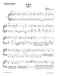 メルト 楽譜 ダウンロード