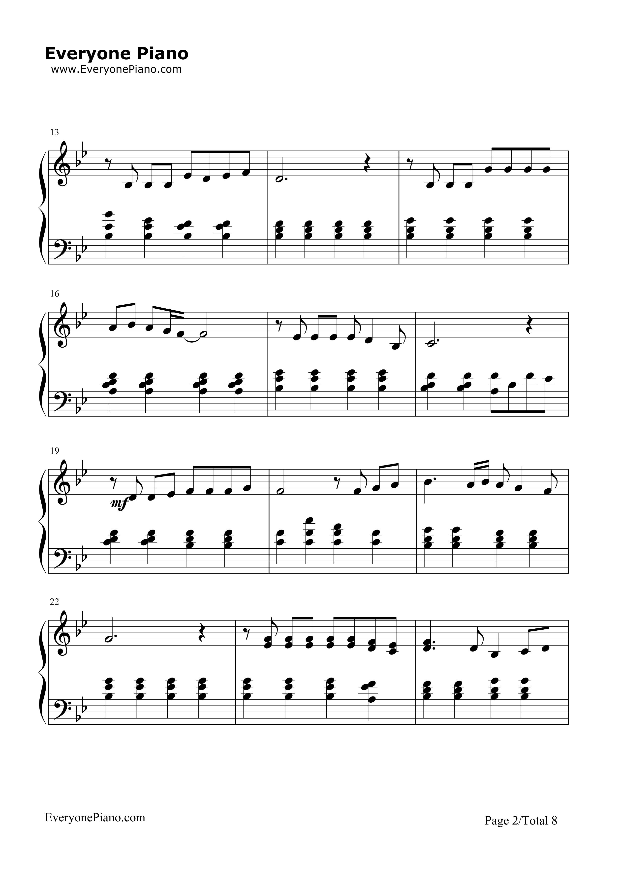 楽譜: 旅立ちの日に… / 川嶋 あい : ピアノ(ソロ) / 初級 - ぷりんと楽譜