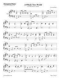アラジン 楽譜 無料