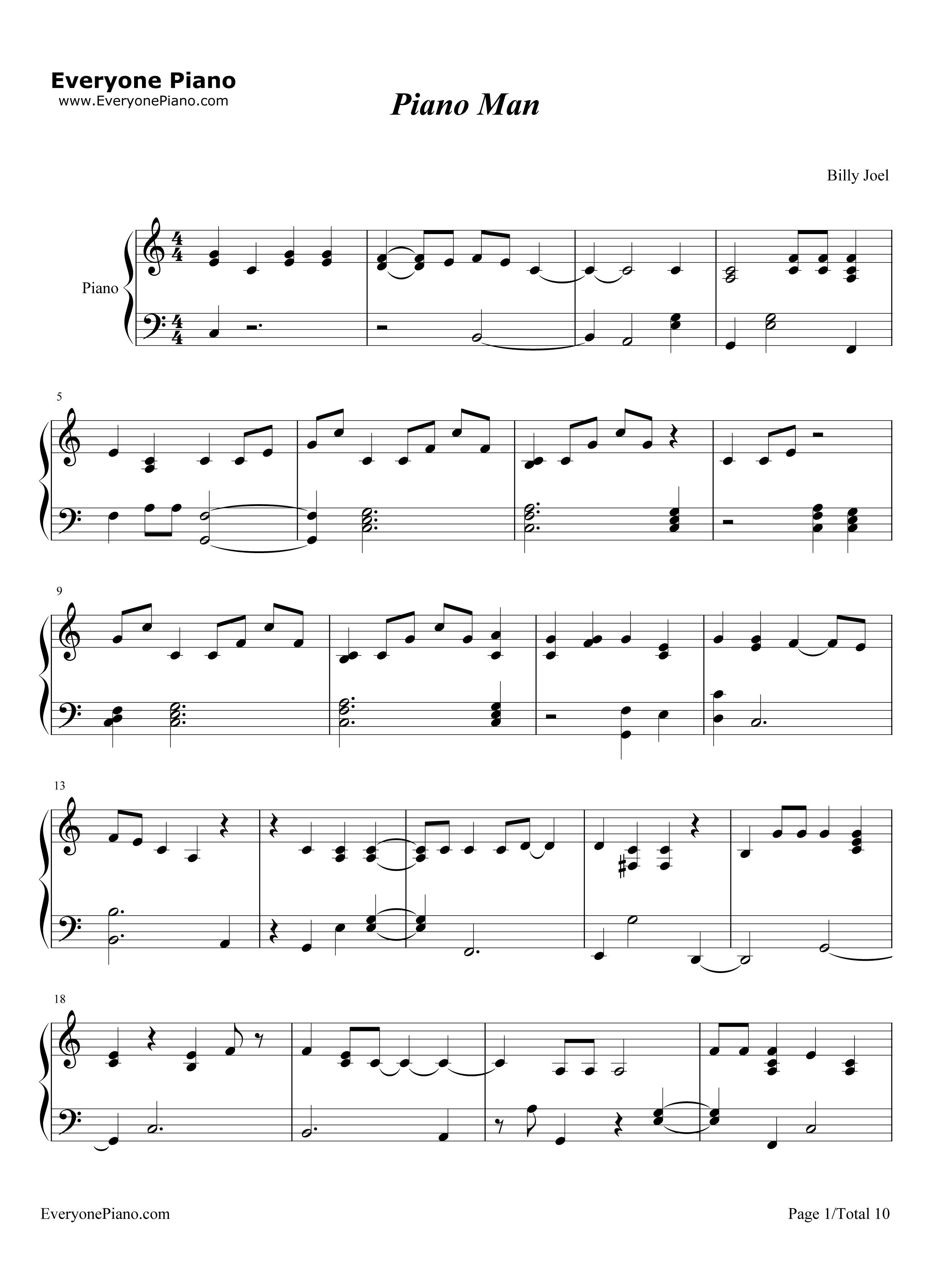 ピアノ マン ジョエル ビリー