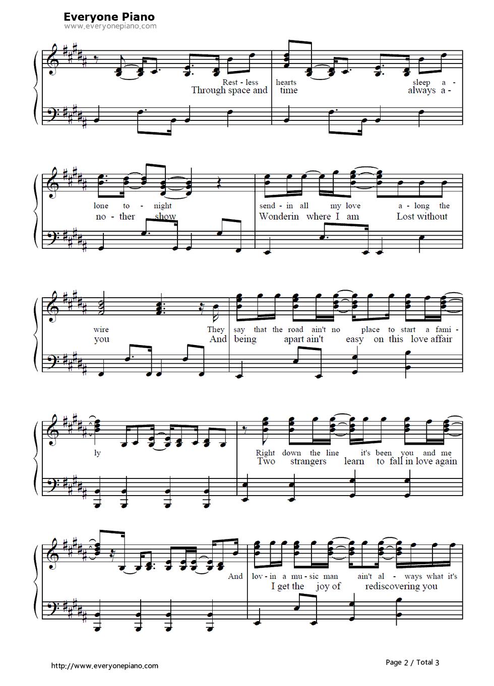 faithfully sheet music pdf free