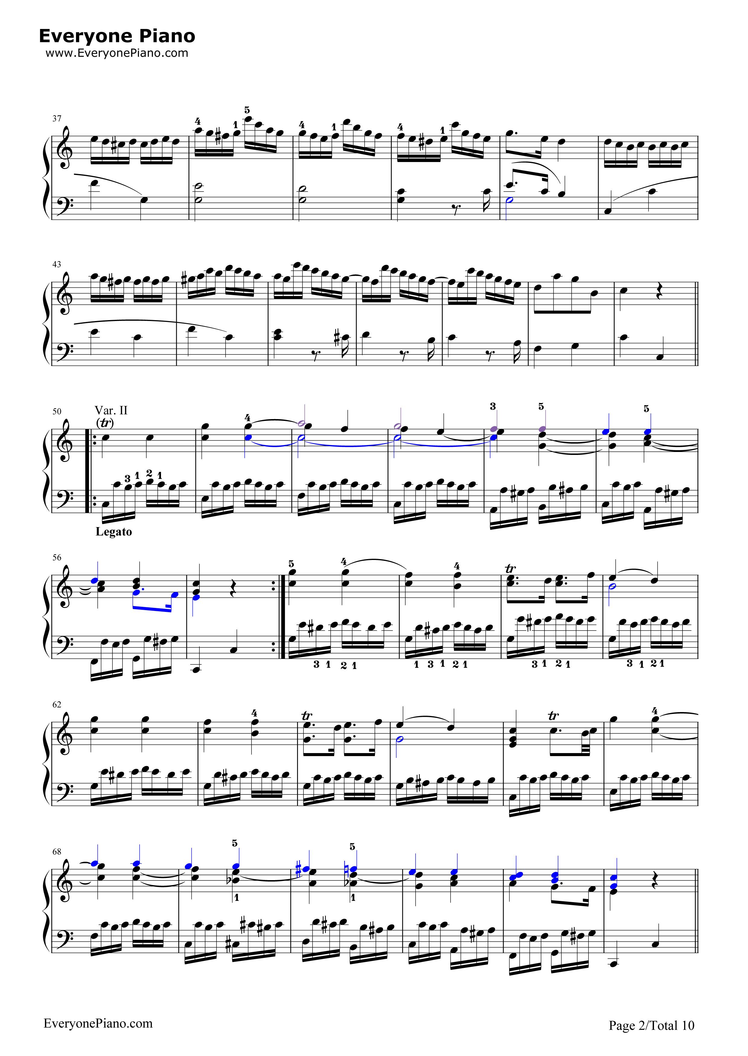 きらきら 星 変奏 曲 楽譜
