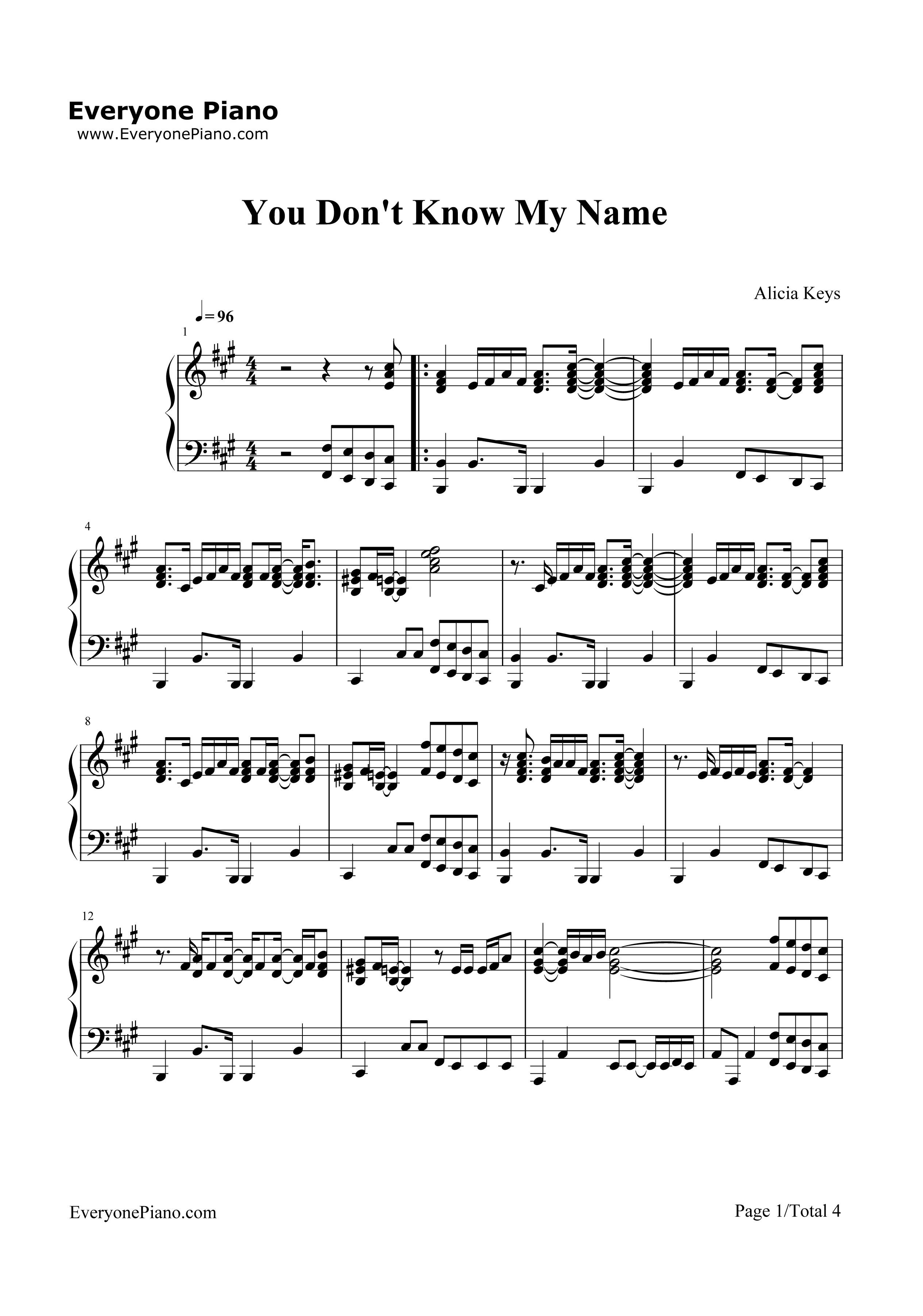to know your name chords pdf