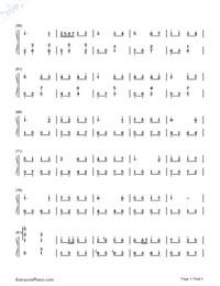 我的驕傲-容祖児無料の楽譜「五線譜、両手略譜」をダウンロード!