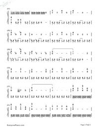イミテーション レイン ピアノ 楽譜