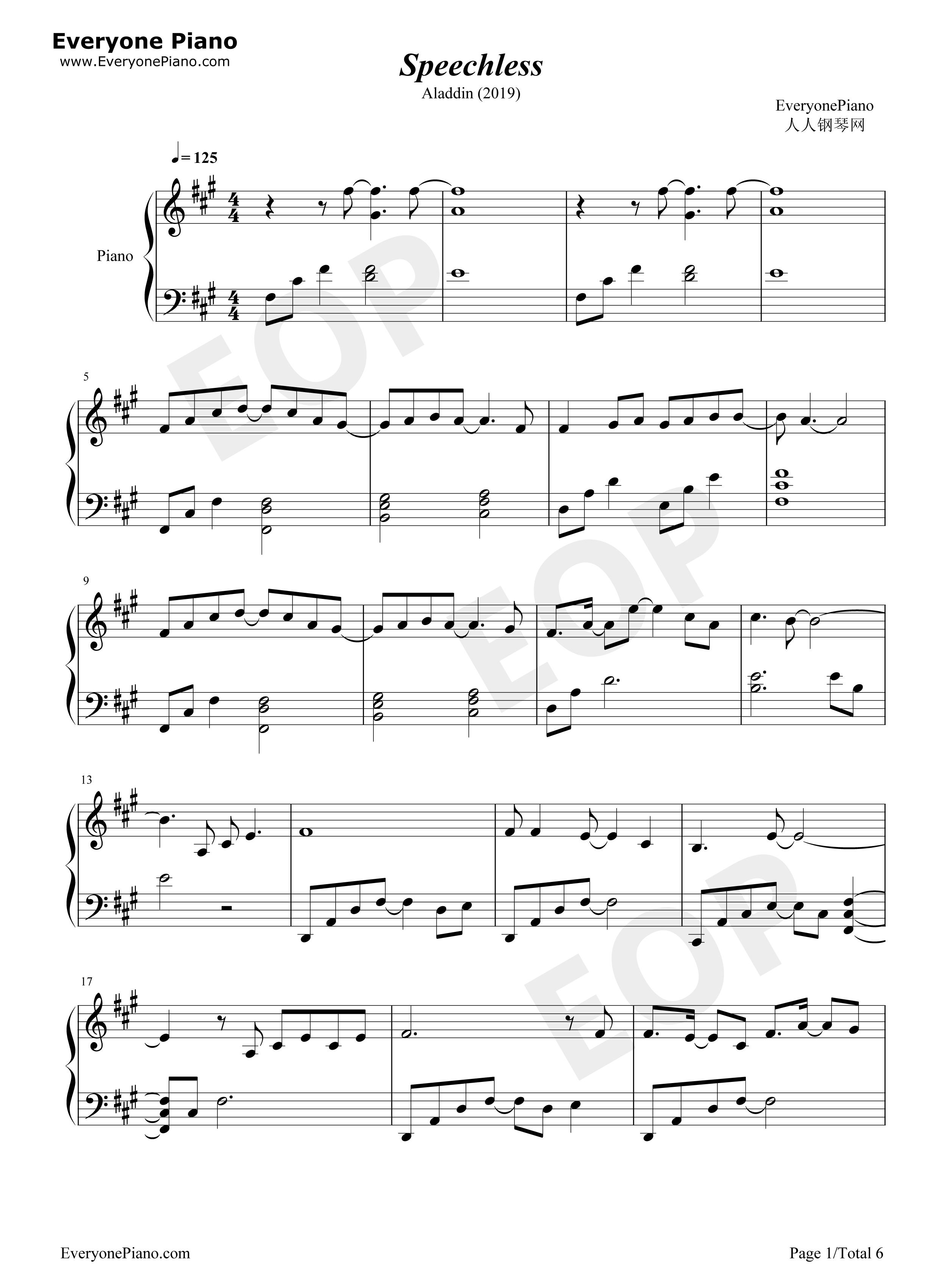 スピーチ レス ピアノ