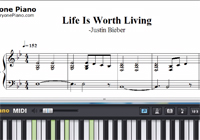 Life Is Worth Living-Justin Bieber楽譜ピアノ学習