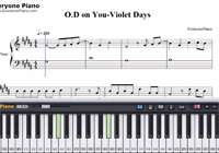 O.D on You-Violet Days楽譜ピアノ学習