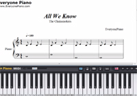All We Know-The Chainsmokers楽譜ピアノ学習
