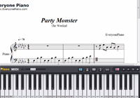 Party Monster-The Weeknd楽譜ピアノ学習