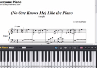 No One Knows Me Like the Piano-Sampha楽譜ピアノ学習