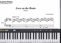 Love on the Brain-Rihanna楽譜ピアノ学習