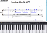 Somebody Else-The 1975楽譜ピアノ学習