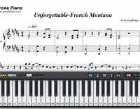 Unforgettable-French Montana楽譜ピアノ学習