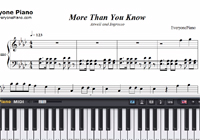 More Than You Know-Axwell and Ingrosso楽譜ピアノ学習
