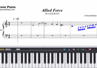 Allied Force-ガンダムビルドファイターズ挿入歌楽譜ピアノ学習