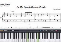 In My Blood-Shawn Mendes楽譜ピアノ学習