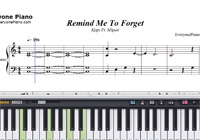 Remind Me To Forget-Kygo Ft Miguel楽譜ピアノ学習