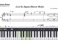 Lost In Japan-Shawn Mendes楽譜ピアノ学習