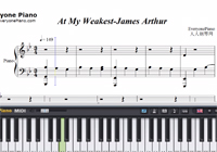 At My Weakest-James Arthur楽譜ピアノ学習