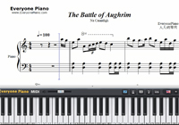 The Battle of Aughrim-楽譜ピアノ学習
