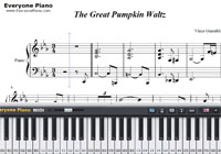 Great Pumpkin Waltz-Vince Guaraldi-楽譜ピアノ学習
